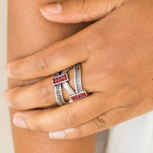 Urban Upscale - Red Stretchy Ring